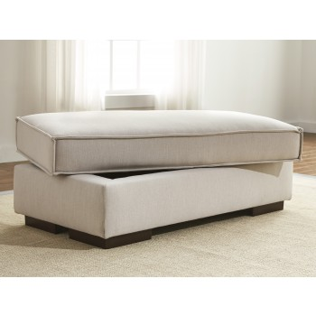 Kendleton - Quartz - Ottoman With Storage