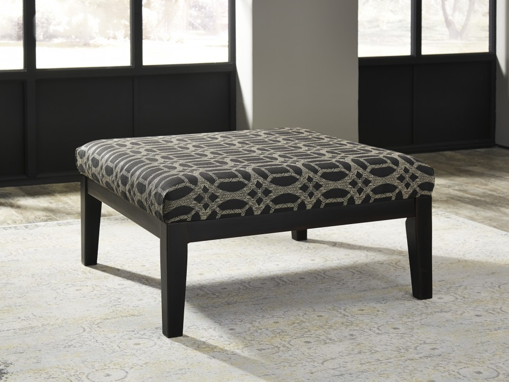 Cresson - Pewter - Oversized Accent Ottoman | 5490708 | Ottomans ...