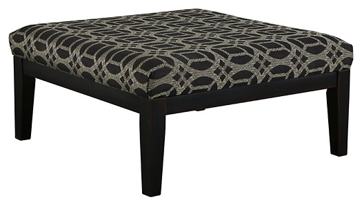 Cresson - Pewter - Oversized Accent Ottoman