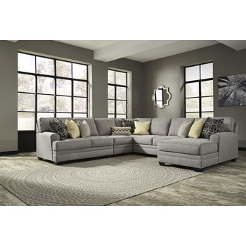 Cresson - Pewter - Armless Loveseat