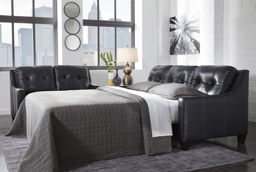 O'Kean - Navy - Queen Sofa Sleeper