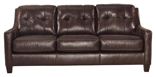 O'Kean - Mahogany - Queen Sofa Sleeper