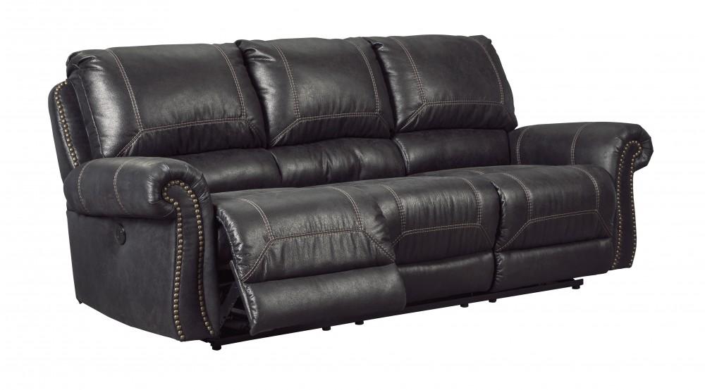 Milhaven - Black - Reclining Sofa