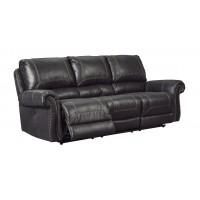 Milhaven - Black - Reclining Sofa