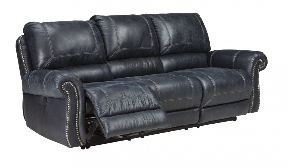 Milhaven - Navy - Reclining Power Sofa