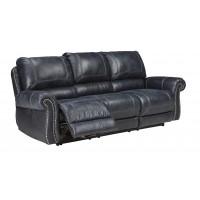 Milhaven - Navy - Reclining Sofa