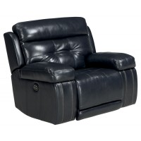 Graford - Navy - Power Recliner/ADJ Headrest