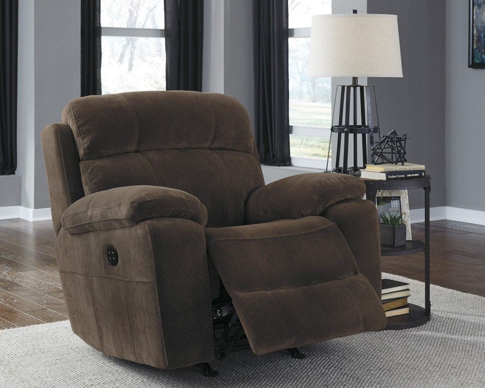 Uhland - Chocolate - Power Recliner/ADJ Headrest