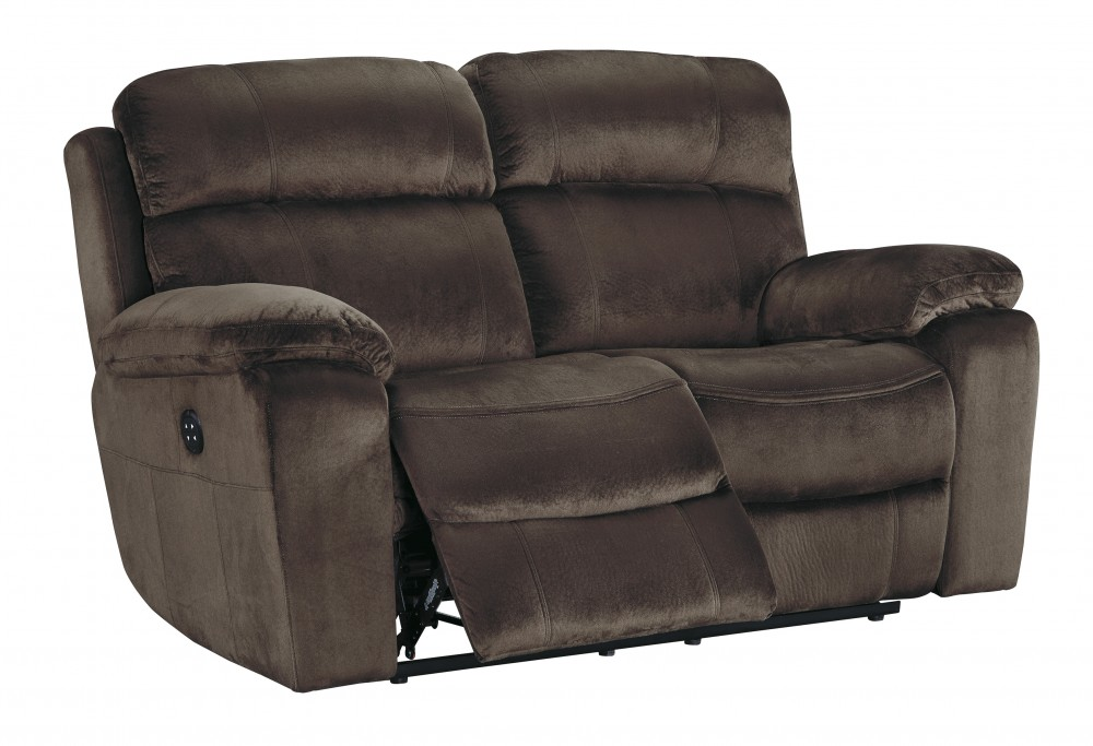 Uhland - Chocolate - PWR REC Loveseat/ADJ Headrest