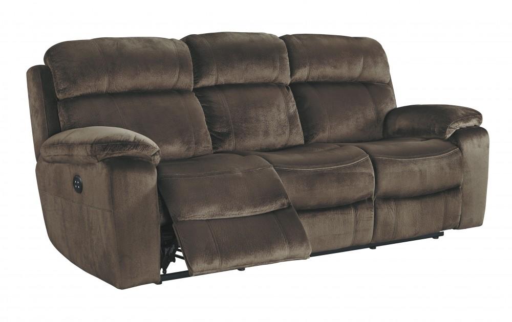 Uhland - Chocolate - PWR REC Sofa with ADJ Headrest