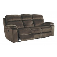Uhland - Chocolate - PWR REC Sofa with ADJ Headrest