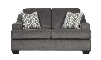Enjoyable Gilmer Gunmetal Loveseat Caraccident5 Cool Chair Designs And Ideas Caraccident5Info