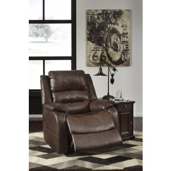 Barling - Walnut - Power Recliner/ADJ Headrest