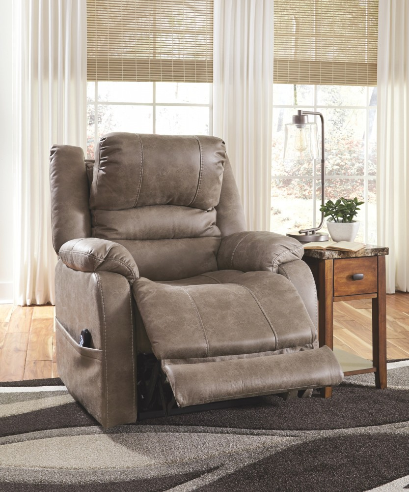 Barling - Mushroom - Power Recliner/ADJ Headrest