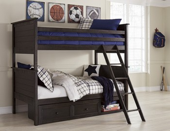 Jaysom Black Twin Bunk Bed Rails And Ladder B521 59r Bed