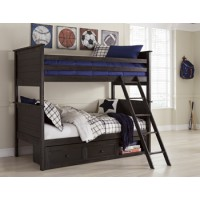 Jaysom - Black - Twin Bunk Bed Rails and Ladder