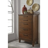 Ralene - Medium Brown - Five Drawer Chest