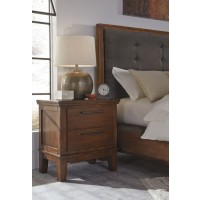 Ralene - Medium Brown - Two Drawer Night Stand