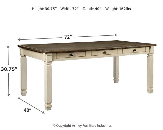 Bolanburg - Antique White - Rectangular Dining Room Table