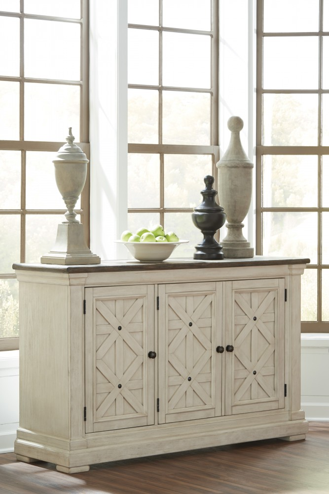 Bolanburg Antique White Dining Room Server D647 60