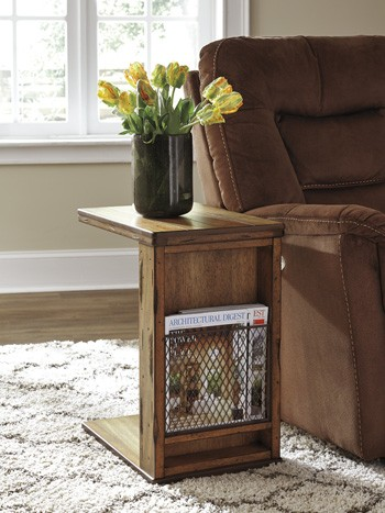 Tamonie - Medium Brown - Chair Side End Table