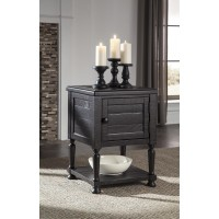 Sharlowe - Charcoal - Square End Table