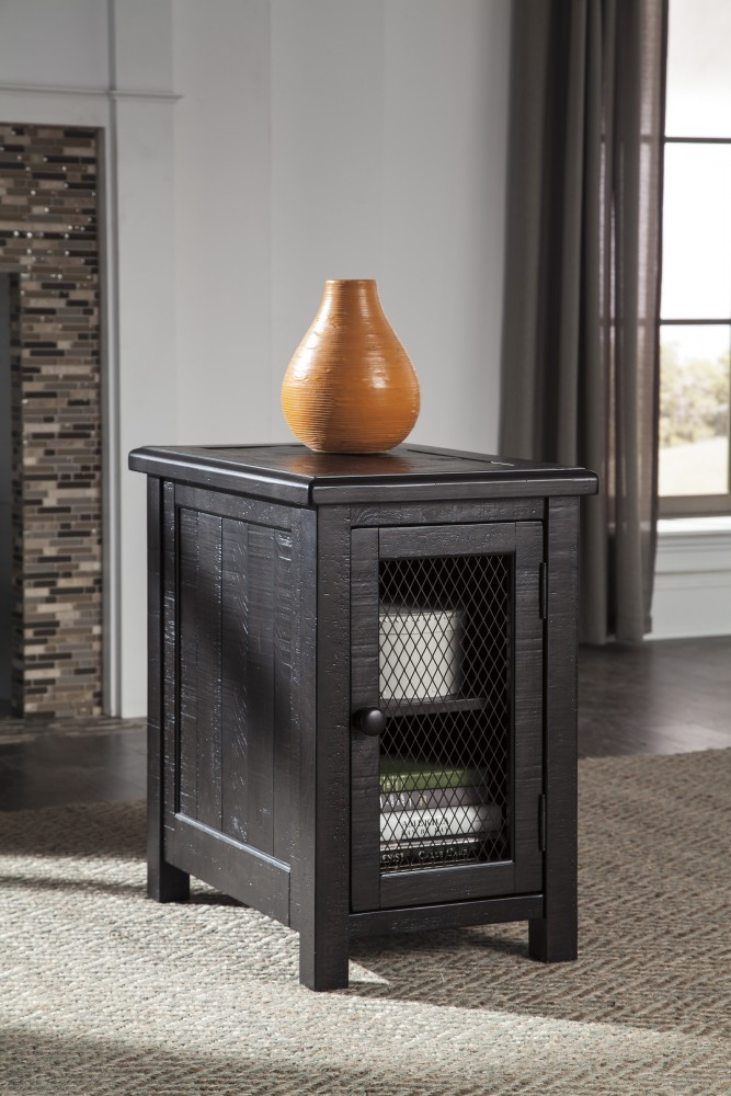 Sharlowe - Charcoal - Chair Side End Table