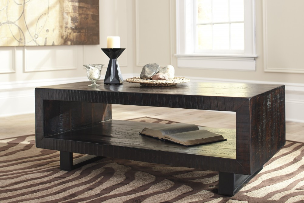 Parlone - Brown/Black - Rectangular Cocktail Table