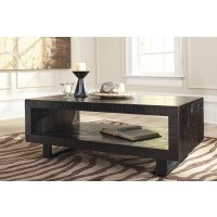 Parlone - Brown/Black - Rectangular Cocktail Table
