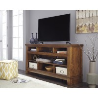 Ralene - Medium Brown - XL TV Stand w/FRPL/Audio OPT