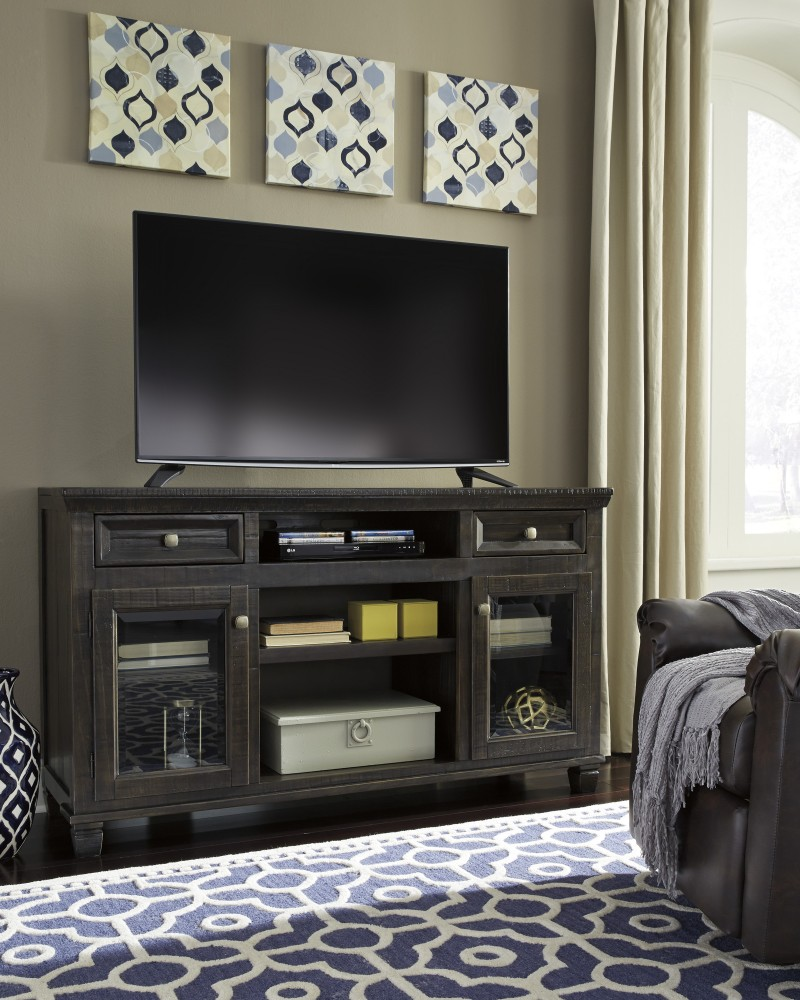 Townser - Grayish Brown - LG TV Stand w/FRPL/Audio OPT