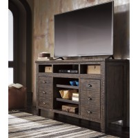 Trudell - Dark Brown - XL TV Stand w/FRPL/Audio OPT