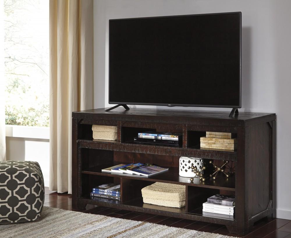 Rogness - Dark Brown - LG TV Stand w/FRPL/Audio OPT