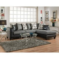 4124 Delta Charcoal 2pc Sectional