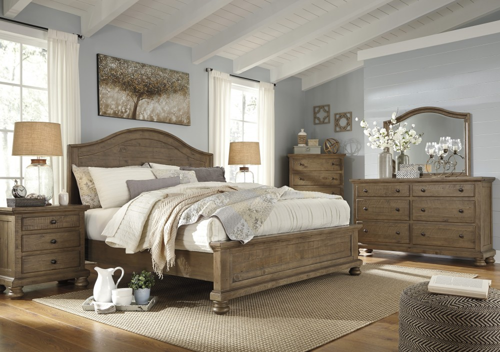 Trishley 5 Pc. Bedroom - Dresser, Mirror & Queen Panel Bed | B659/31 ...