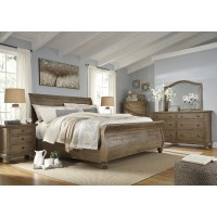 Trishley 5 Pc. Bedroom - Dresser, Mirror & Queen Sleigh Bed