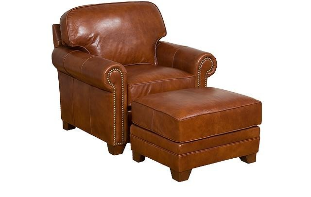 KING HICKORY Bentley Leather Chair
