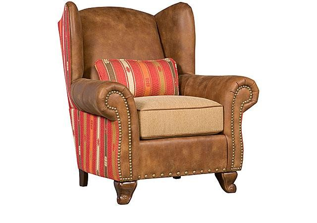 Outstanding King Hickory Corona Leather Fabric Chair Corona Ottoman Machost Co Dining Chair Design Ideas Machostcouk