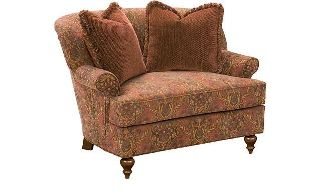 KING HICKORY Cuddle Chair & 1/2, Cuddle Ottoman