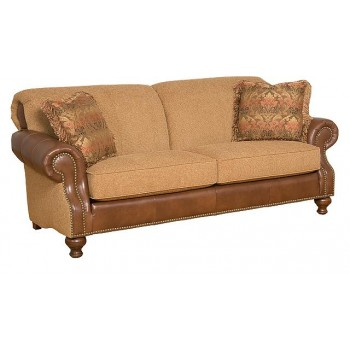 Exceptionnel KING HICKORY Roxanne Leather/Fabric Sofa