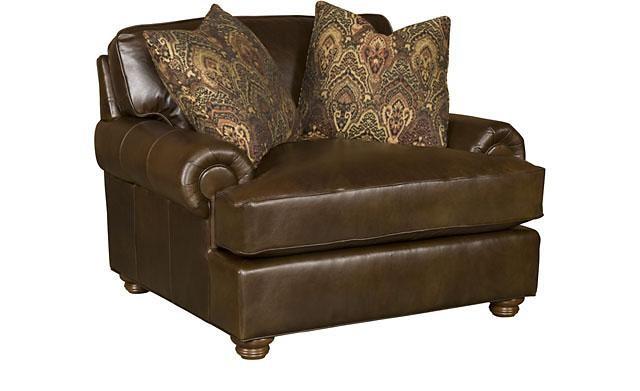 KING HICKORY Henson Leather Chair U0026 1/2