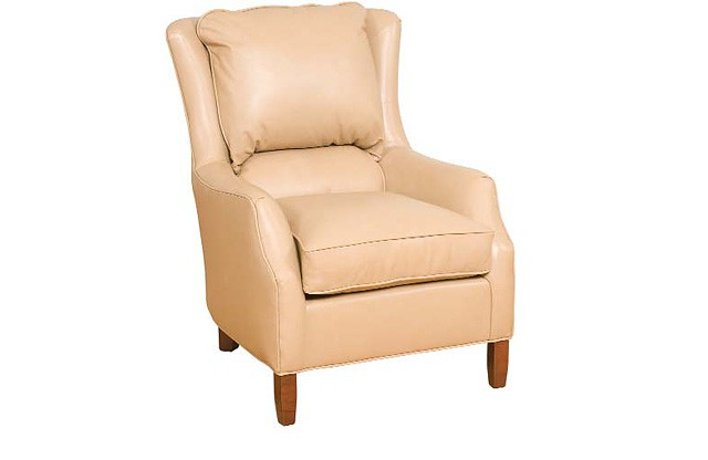 KING HICKORY Writer Leather Chair