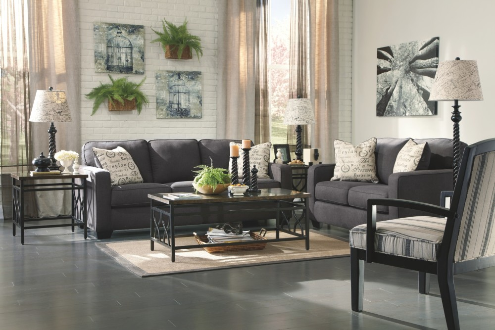 Alenya Charcoal Loveseat 1660135 Love Seats Derailed Commodity
