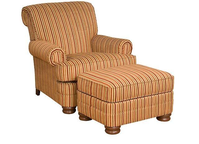 KING HICKORY Monica Chair, Monica Ottoman