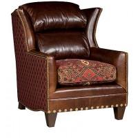 KING HICKORY Santorini Chair, Santorini Leather Fabric Chair