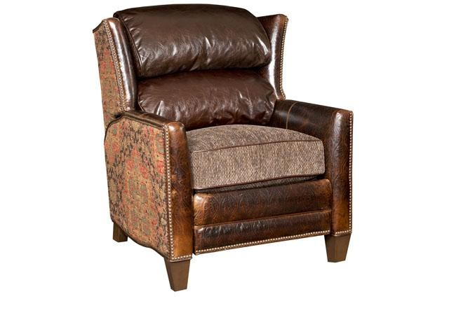 KING HICKORY Santorini Leather Fabric Recliner