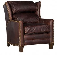 KING HICKORY Santorini Leather Recliner