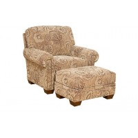 KING HICKORY Candice Fabric Chair, Candice Ottoman