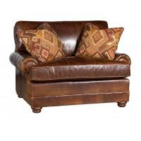 KING HICKORY Highland Park Chair, Highland Park Leather Chair, Highland Park Leather Ottoman