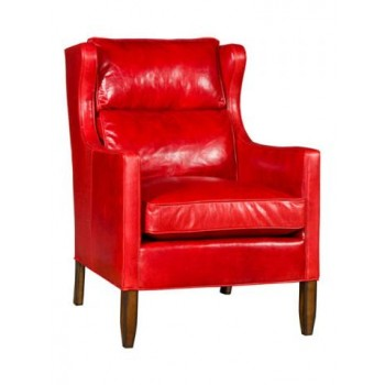 KING HICKORY Elena Leather Chair